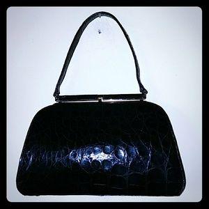 Beautiful vintage Sterling genuine crocodile bag